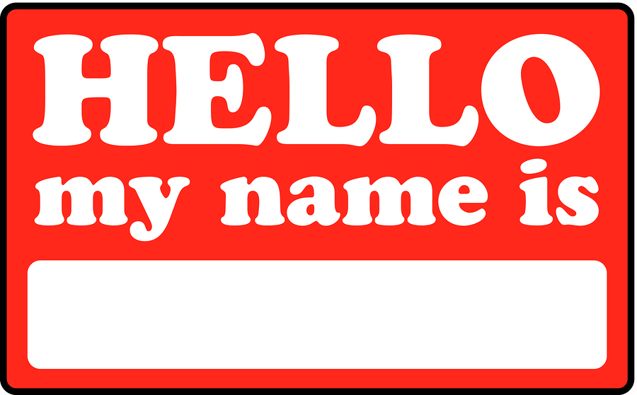 P (Name Badge)