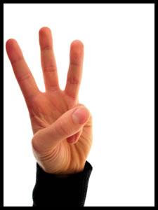 B (Three Fingers)