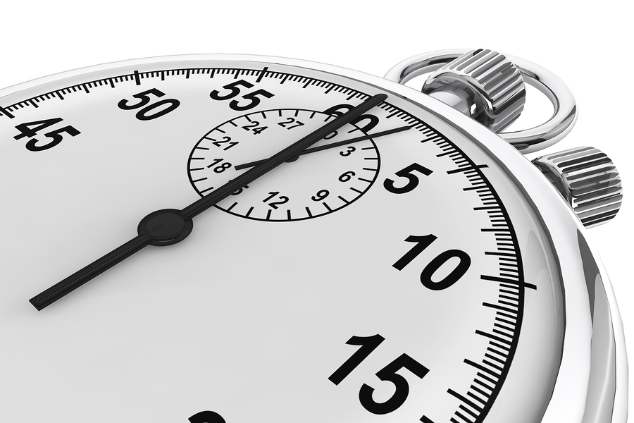 Silver modern Stopwatch